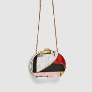 ZARA pop of color Purse